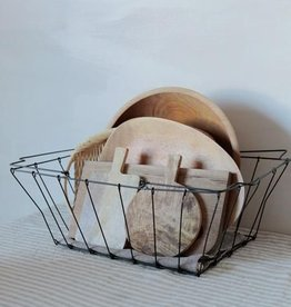 Fog Linen  Iron Grocery Basket