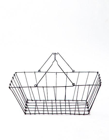Fog Linen  Fog Linen Iron Grocery Basket