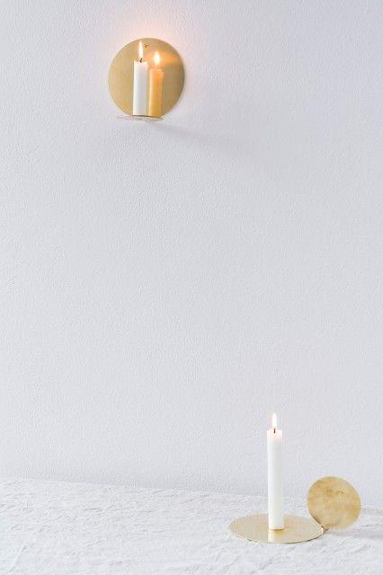 Mleko Mleko Brass Moon Candleholder Hanging