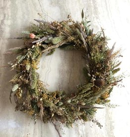 Raket & Distels Wreath of dried grasses - small