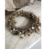 Raket & Distels Large wreath of dried flowers and grasses