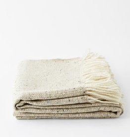 Mourne Textiles Oatmeal Woolen Blanket