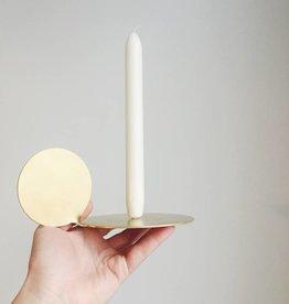 Mleko Brass Moon Candleholder
