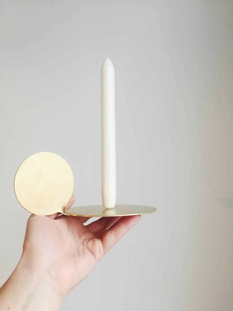 Mleko Mleko Brass Moon Candleholder