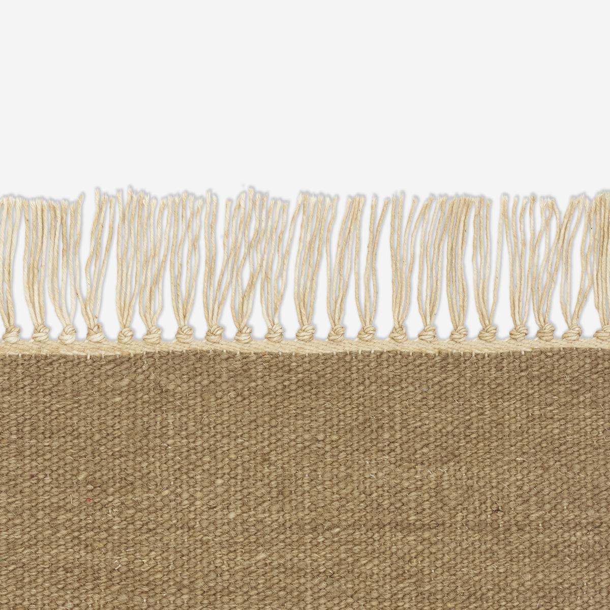 Hand Spun Woolen Kelim Rug With Natural
