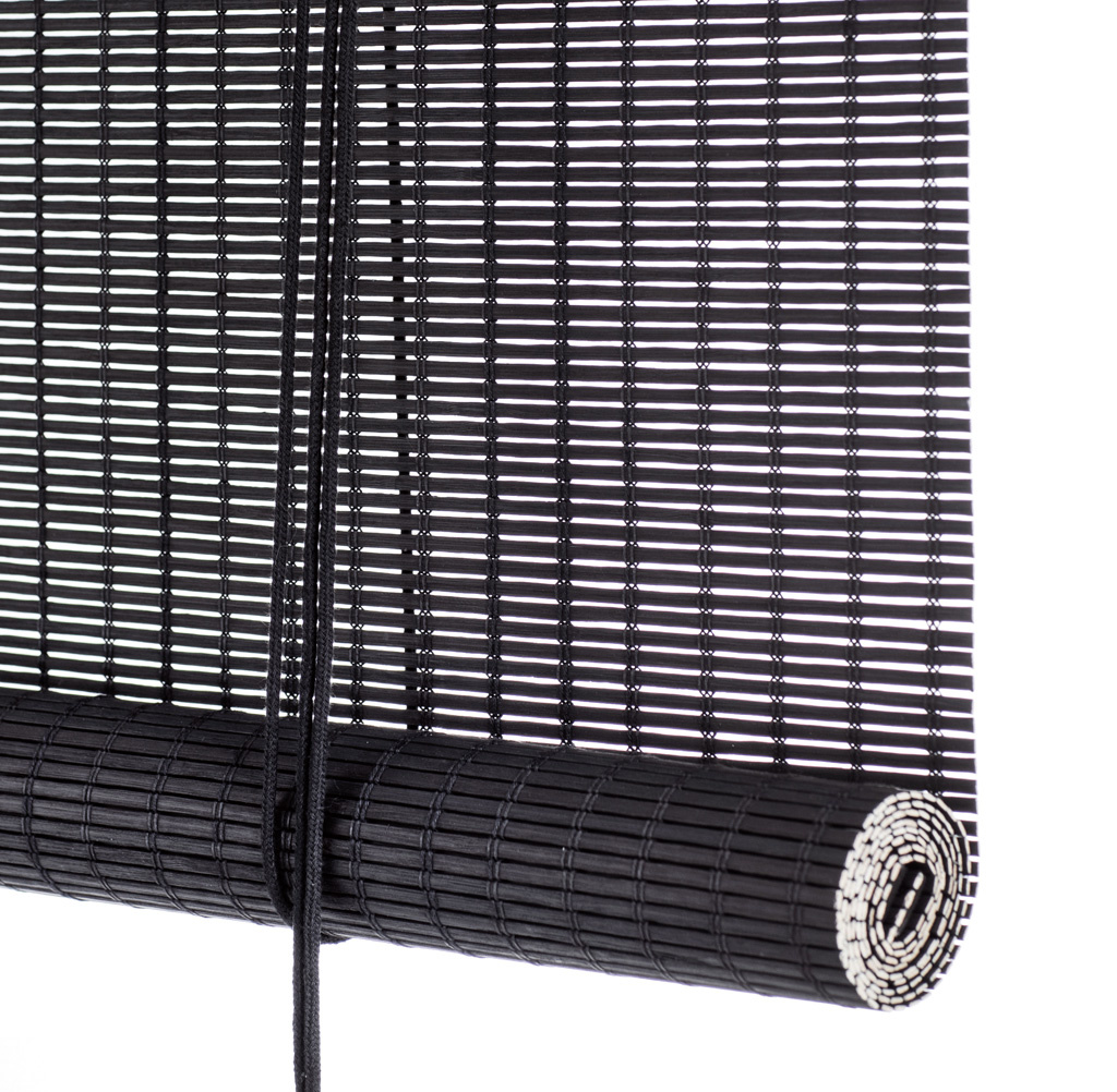 Black Bamboo Roller Blinds Pantoufle