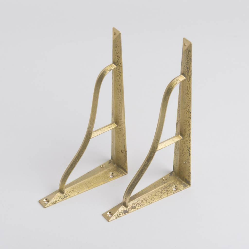 Futagami Futagami Brass Shelf Bracket L (set of 2)