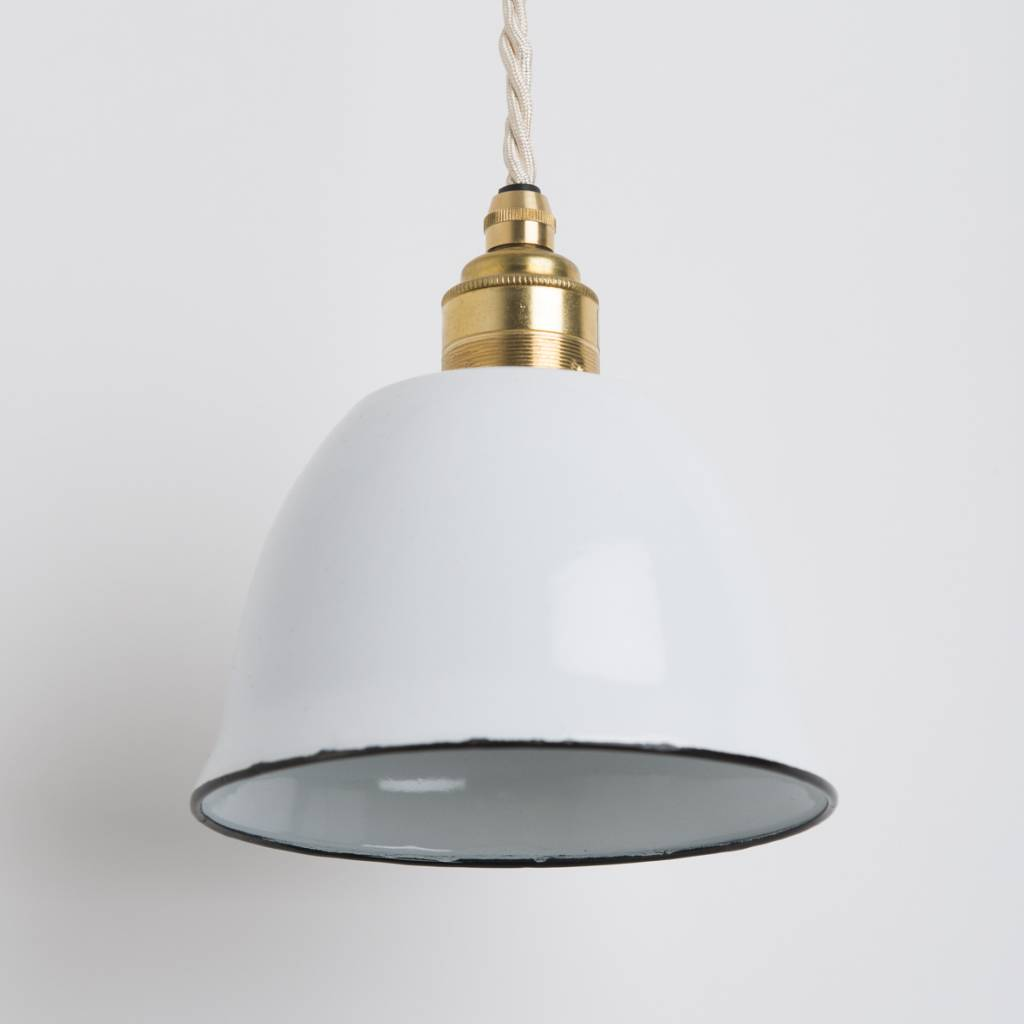 Nook London Enamel Miniature Bell Lamp White