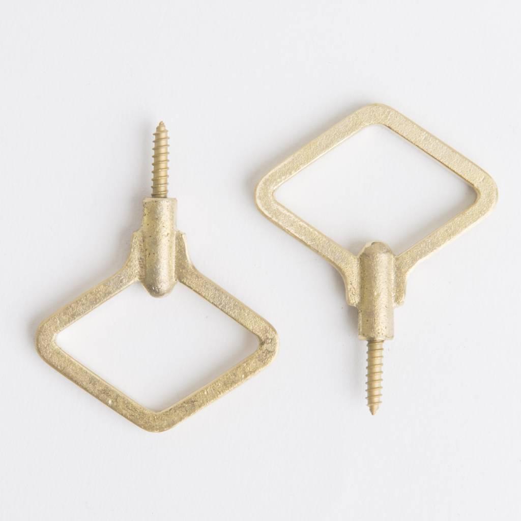 Futagami Futagami Brass Zenmai Hook Diamond L (set of 2)