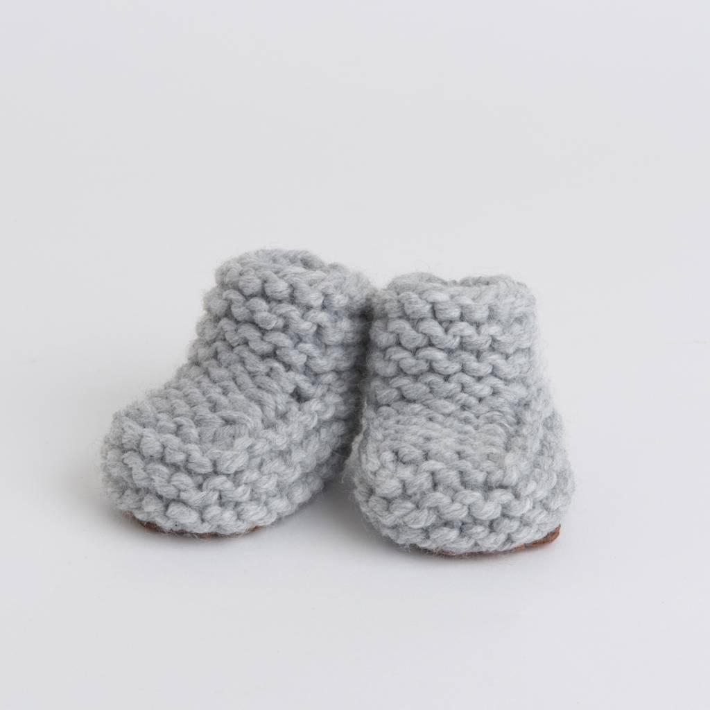 d2c4ea61ba8 Handknit grey Woolen Baby House Shoes size 10-15 - Pantoufle