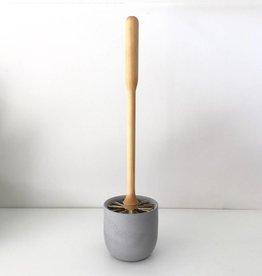 Iris Hantverk Birch and Concrete Toilet Brush