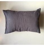 Linge Particulier  Cushion Cover Storm Grey Washed Linen 50 x 70 cm