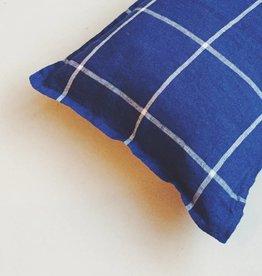 Linge Particulier  Cushion Cover Tartan Blue