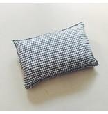 Linge Particulier  Linge Particulier Cushion Cover Anthracite Gingham Linen 40 x 60 cm