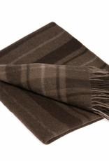 Mongoltextile Mongoltextile - Decke aus Yakwolle - braun mit Streifen