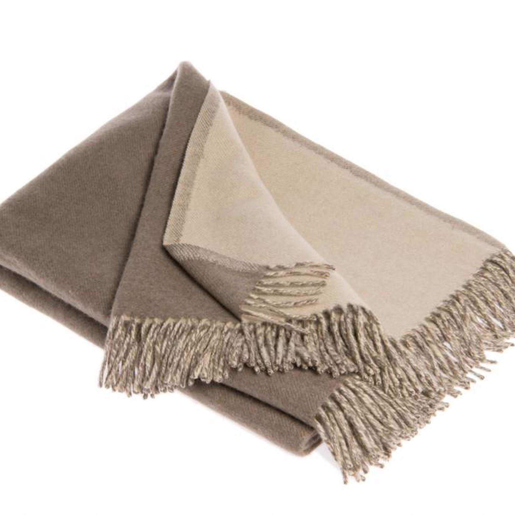 Yangir - Decke aus Kaschmir - zweifarbig