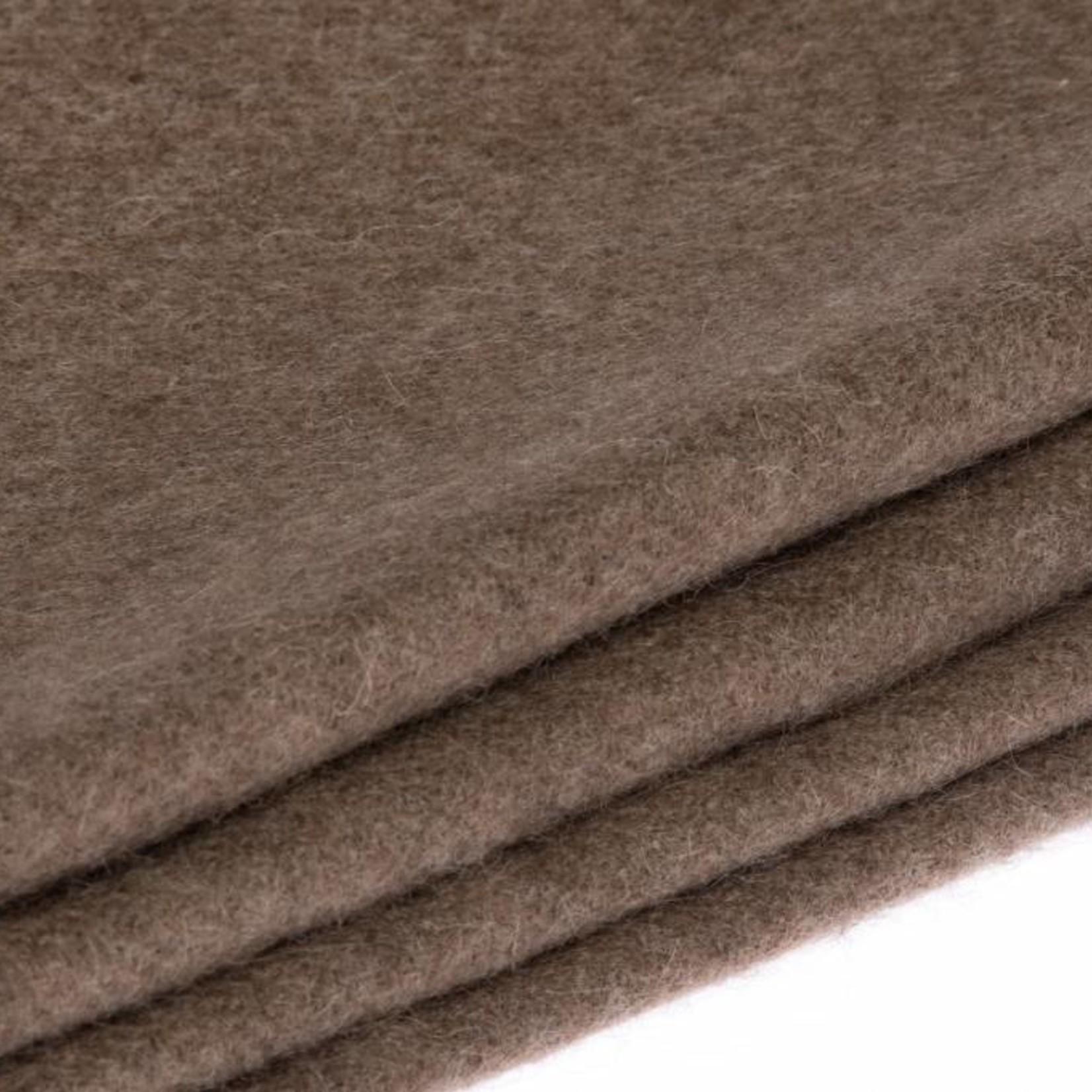 Mongoltextile - Decke aus Yakwolle - schokobraun
