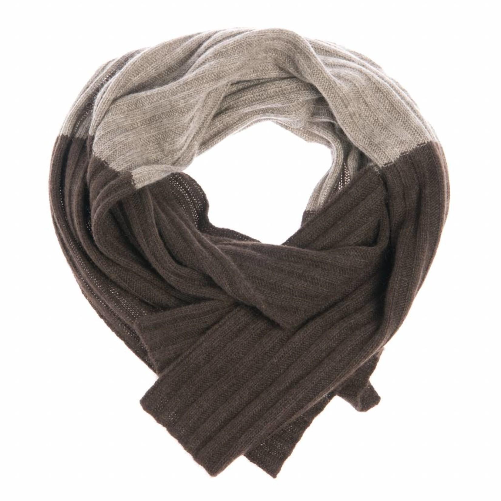 Batu - Schal aus Yakwolle - zweifarbig