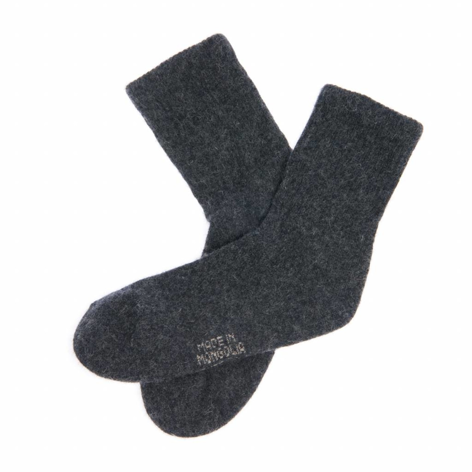 Socken aus Yakwolle - antrazit