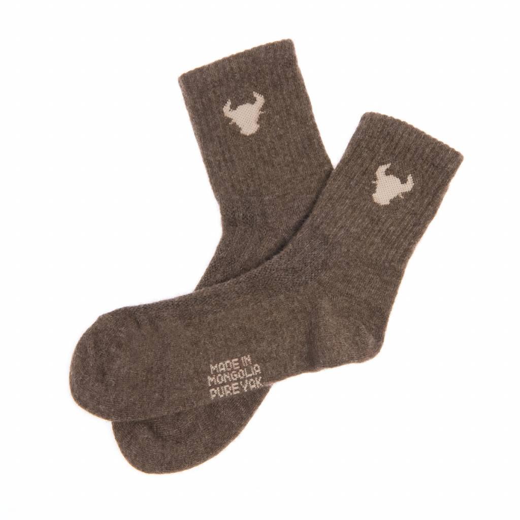 """Mongol Natur""  100% Yakwolle Socken aus Yakwolle - cappuccino"