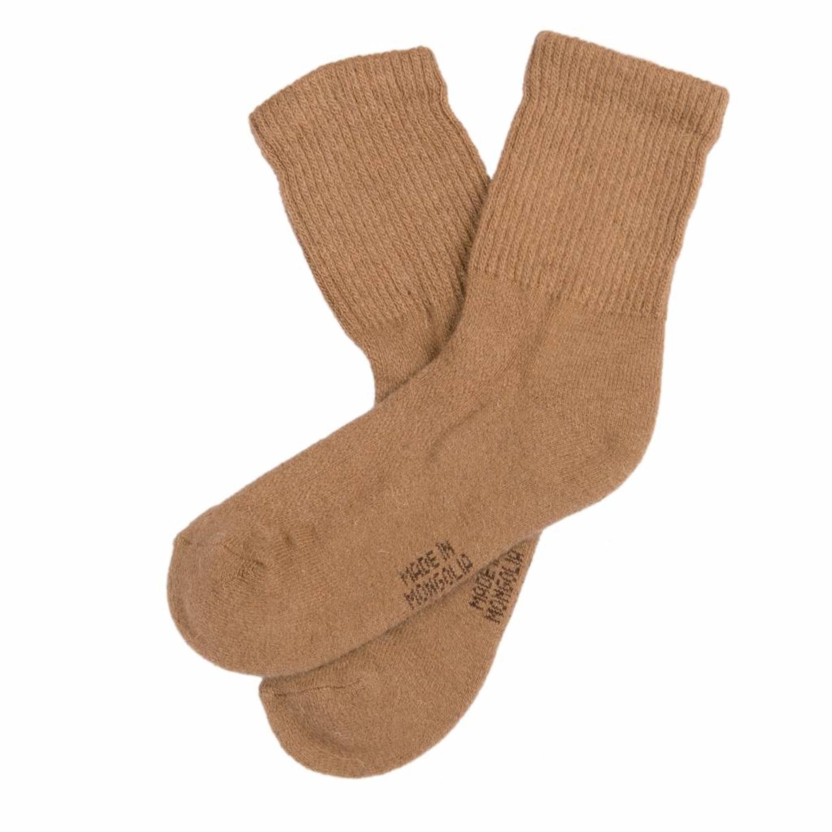 Socken aus Kamelhaar - kamelbraun