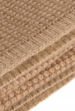 Mongol Natur.  Decke aus Baby -Kamelhaar - kamelbraun/beige
