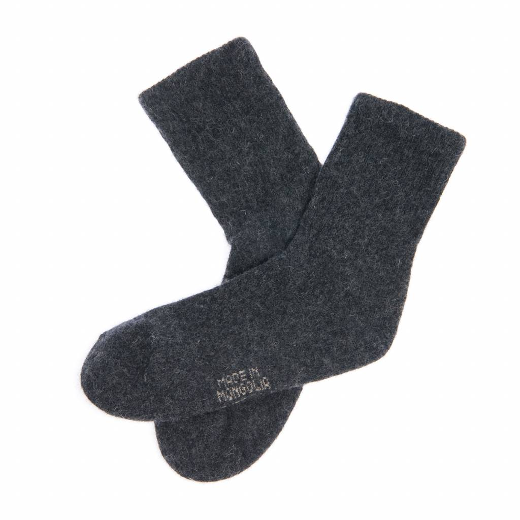 Mongol Natur Socken aus Yakwolle - antrazit - Copy