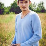 Herren Pullover mit V Ausschnitt aus Kaschmir, hellblau