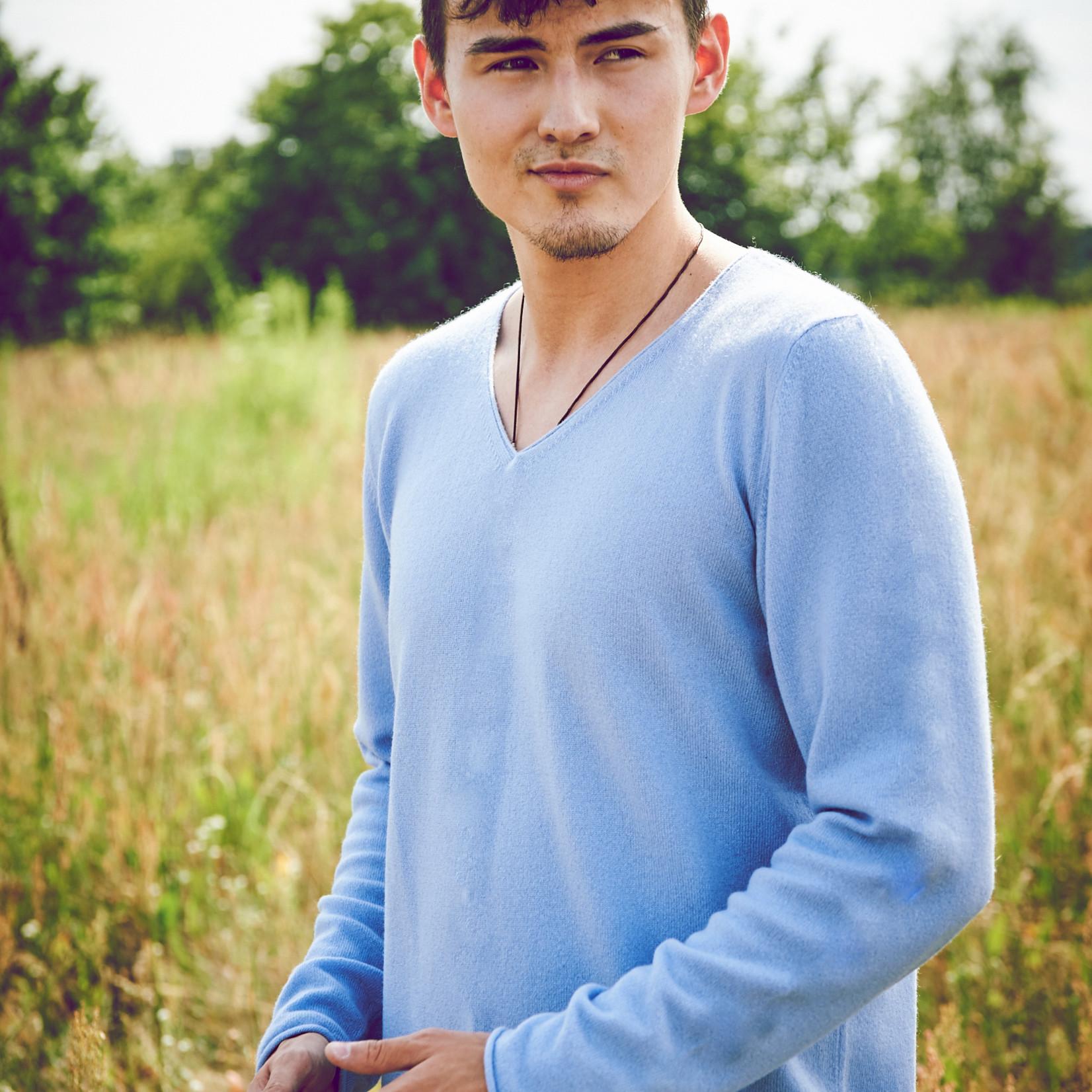 Odgo - Pullover aus Kaschmir - hellblau