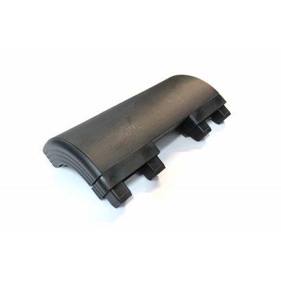 Zijafschermings voorhoek zwart Takler 300 mm hoog