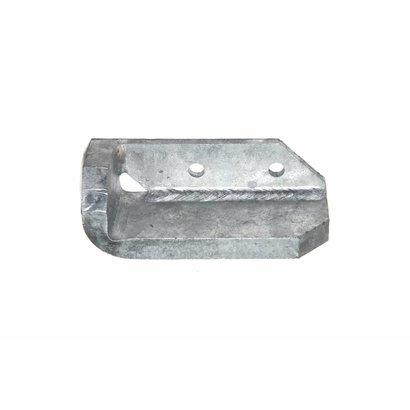 Stootblok staal verzinkt links, halve hoek