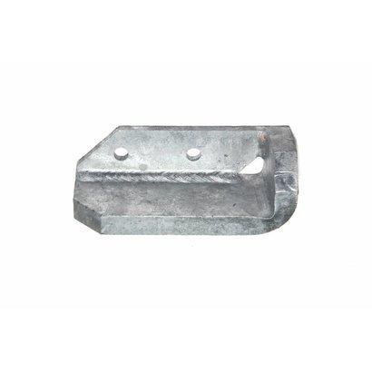 Stootblok staal verzinkt rechts, halve hoek