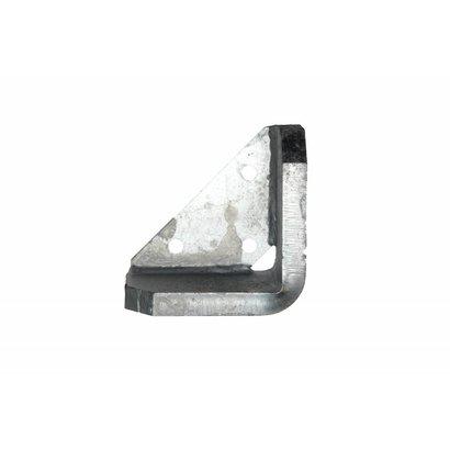 Stootblok staal verzinkt rechts, volle hoek