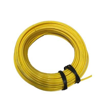 Kunststof remleiding geel 8x1 rol 100mtr