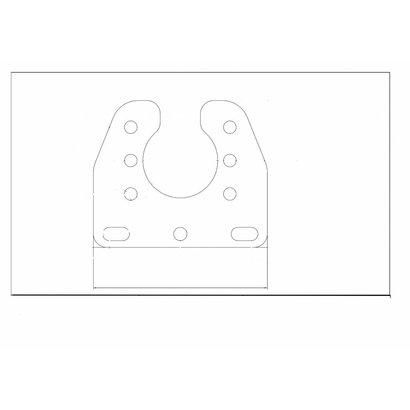 Houder voor stekkerdoos 7/15 pol.  KTL RAL9006