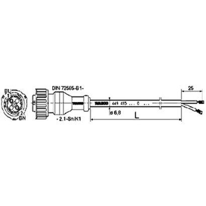 Wabco Kabel DIN 2-aderig 6 meter