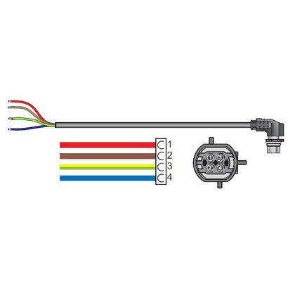 Wabco Kabel 4-polig GTO 6 meter