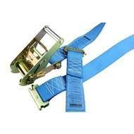 Spanband tbv bindrails, 4m blauw