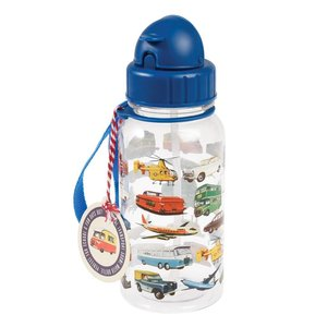 Rex London Kids Water Bottle Vintage Transport