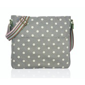 Huiskamergeluk Handtasche Cross-over Bag Canvas Dots grey