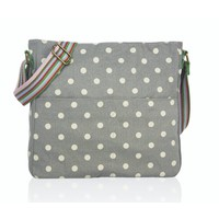Huiskamergeluk Handbag Cross-over Canvas Dots grey