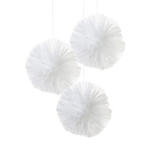 Talking Tables Pom Poms White Tulle