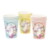 SALE Paper cups Truly Flamingo