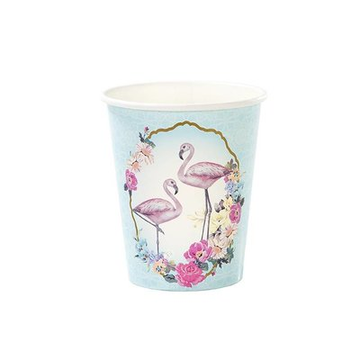 Talking Tables Paper cups Truly Flamingo