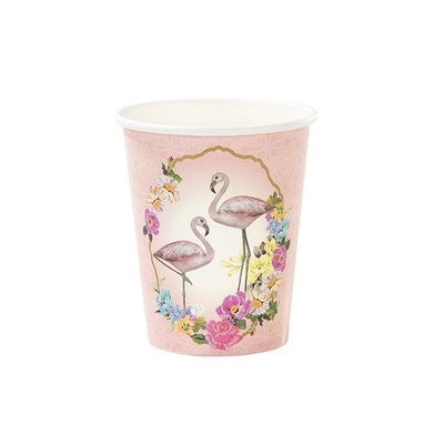 Talking Tables Pappbecher Truly Flamingo