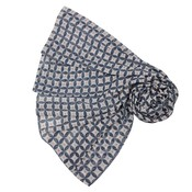 M&K Collection Scarve Geo Pattern navy