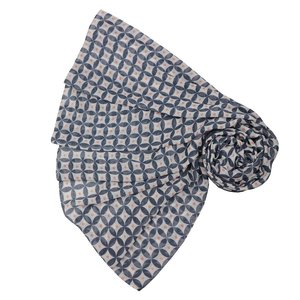 SALE Scarve Geo Pattern navy