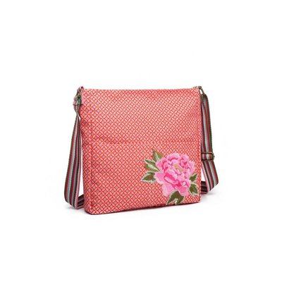 Blossify by Blossify Handbag Cross-over Geometric Rose red