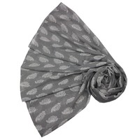 M&K Collection Schal Floating Feathers grey