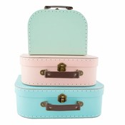 Sass & Belle Köfferchen Pastel Retro Set von 3